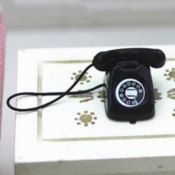 Dollhouse miniature scene model dollhouse accessories mini fixe Black