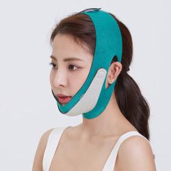 Double Chin Face Bandage Elastic V Shaper Facial Slimming Banda Green