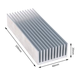 Extruded Aluminum Heatsink For High Power LED IC Chip Cooler Rad 100×40×20m