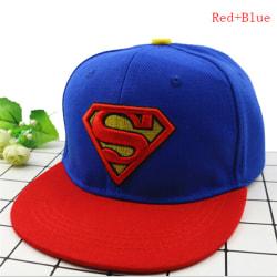 Mode Barn Flickor Pojkar Superman Snapback Baseball Cap Barn Red+Blue