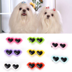fashion pet dog hair bows clips love style doggie boutique sung Pink 3.2cm*1.7cm