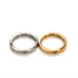 Gold & Silver Heart Couple Rings His and Her Promise Wedding Gif