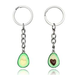 Handmade Polymer Clay Avocado Heart Pendant Keychain keyring Ke StyleA