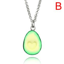 Handmade Polymer Clay Avocado Heart Pendant Necklace Best Frien StyleB