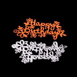 Grattis på födelsedagen Form Metal Cutting Dies för DIY Scrapbooking Al