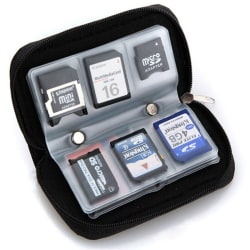 Hot SDHC MMC CF Micro SD Memory Card Storage Carrying Pouch Case Black One Size