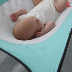 Barn Sovsäng Säker avtagbar gungelastisk hängmattajusterbar