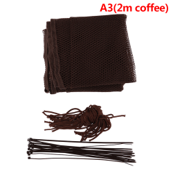 Kids stairs safety net protection Rail Balcony baby fence stair  A3(2m coffee)