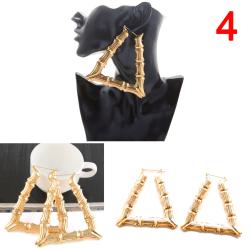 Large Bamboo Earrings Hip-Hop Earrings Ladies Hoop / Hoops Ear  Gold Appearance-4