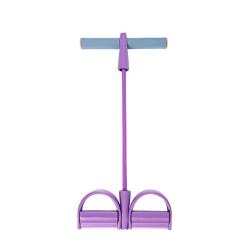 Multi-function Tension Rope Leg Tummy Training Foot Sit-up Peda purple