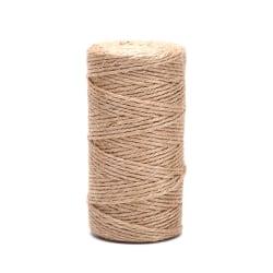 Naturlig hampa linlina snodd säckväv Jute garn rep sträng D