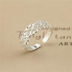Nya 925 sterling silverpläterade ring kvinnor mode smycken hela Silver One Size