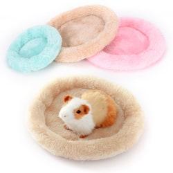 New soft fleece guinea pig bed winter small animal cage mat ham Blue L