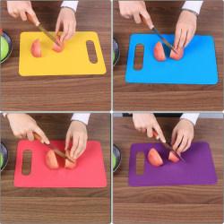 Non Slip Plastic Chopping Mat Vegetable Fruit Cutting Board Kit Yellow
