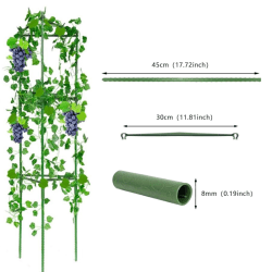 Plant Support Cage Climbing Vine Rack Justerbara ringar Garden Ba