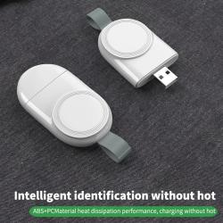 Bärbar trådlös laddare för IWatch 5 4 6 SE Charging Dock Sta USB