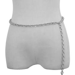 Punk Byxor Chain Nyckelring för kvinnor Byxor Bälte Midjekedjor H