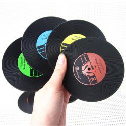 Retro Vinyl CD Album Record Drinks Coasters Bar Table Cup Glass