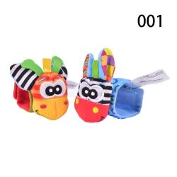 Sozzy Cute 2-piece Soft Baby Toy Wristband Cartoon Animal Plush  7