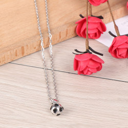 Sport necklace football Pendant With Chain Soccer Necklace Gold Silver
