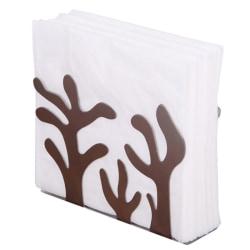 Stainless Steel Napkin Rack Box Dispenser Tissue Holder Plants T
