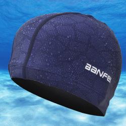 Sommar badmössa Nylon Hög elasticitet Flexibel Hållbar Adul Dark blue