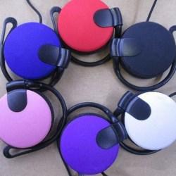 Super Bass 3.5mm Ear Hook Over Ear Headset Headphone For Phone  Blue