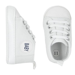 Småbarn Baby Boy Girl 20 färger Portable Soft Sole Crib Shoes I N11 White