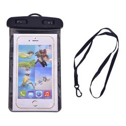 Universal vattentät påse mobiltelefoner bärbar väska för att använda ljus Black