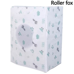 Washing Machine Cover Fox Wolf Waterproof Zippered Dust Cover U Roller fox