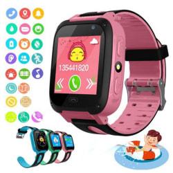 Waterproof Child Smart Watch Call Tracker Child Camera Anti-los Pink