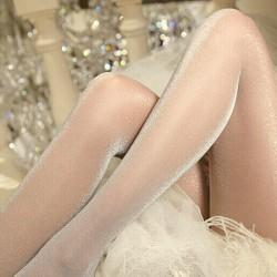 Kvinnors sexiga olja Blanka garn sexig satin Strumpor slang Legging