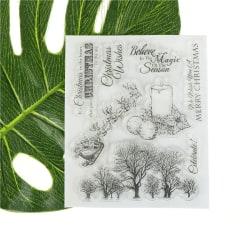Xmas träd och ljus Scrapbooking Album Card Decor Diary Craf