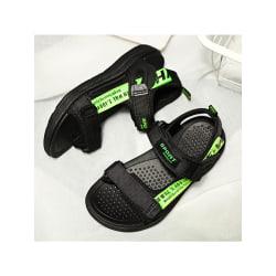 Sandaler mjuka sulor skor sommar mode pojkskor andas Grön 34
