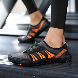 Unisex lätta barfota vattentäta skor snabbtorkande skor Orange 42