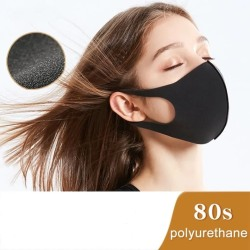 10-Pack Tvättbart Munskydd / Ansiktsmask Sponge - Svart