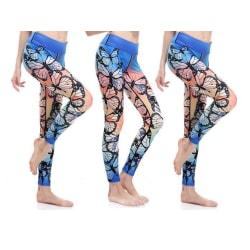 Graceful Butterfly Yoga Leggings MultiColor XXXL