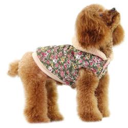 Hundjacka blommig med luva MultiColor XL