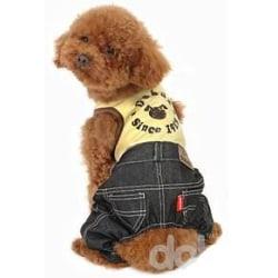 Hundoverall med Jeans och T-shirt MultiColor S