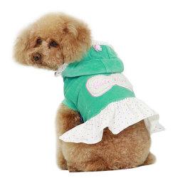 Klänning i sammet Green S
