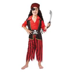 Pirat Pojke Barn Maskeraddräkt Red L