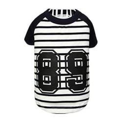 T-shirt randig MarineBlue L