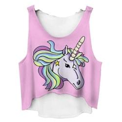 Unicorn Crop Top White L