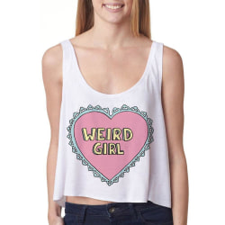 Weird Girl Crop Top White M