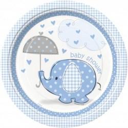 Baby Shower Papptallrikar Blå