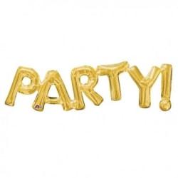 Folieballong - Party Guld