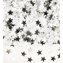 Konfetti Stjärnor Silver