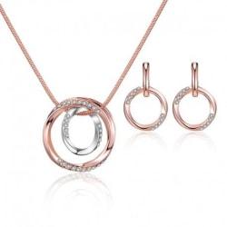 Smyckeset halsband och örhängen