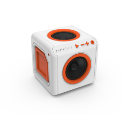 Allocacoc Audio Cube Portable Bluetooth högtalare 44-3902 Vit/ Orange