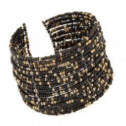 Armband med pärlor svart
